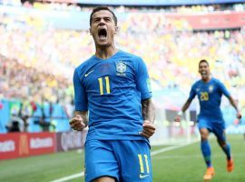Philippe Coutinho scored the first goal for Brazil in the first minute of extra time against Costa Rica. (Image: Getty)