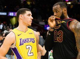 LeBron James, right, is rumored to join Lonzo Ball and the Los Angeles Lakers next year. (Image: Getty)