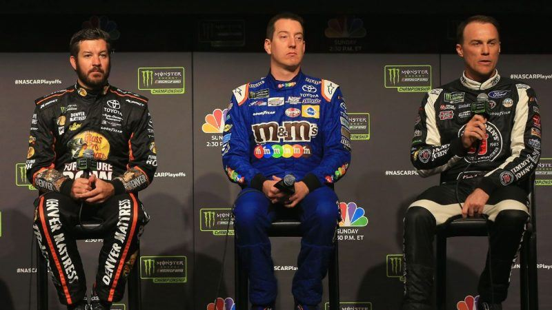 Martin Truex Jr., Kyle Busch, and Kevin Harvick have won 11 of 15 races this year. (Image: Getty)