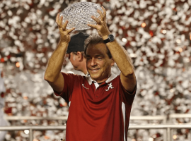 Alabama's Nick Saban is expected to repeat as College Football's National Champion. (Image: Getty)