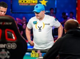 Nicolas Manion won an enormous pot on the final hand of Day 7 to enter the WSOP Main Event final table as the chip leader. (Image: WSOP.com)