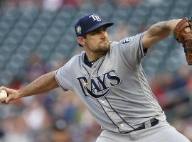 The Tampa Bay Rays traded pitcher Nathan Eovaldi to the Boston Red Sox on Wednesday. (Image: Jim Mone/AP)