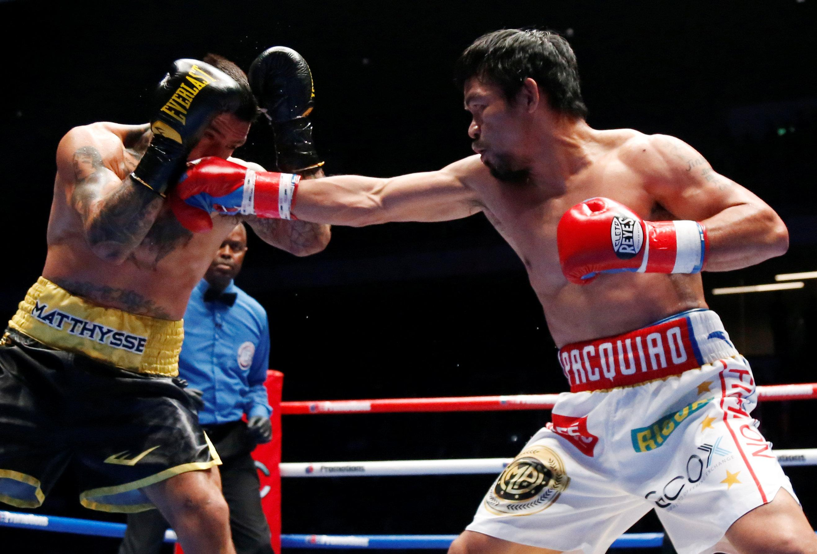 Manny Pacquiao TKO Matthysse