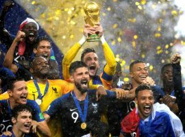 France celebrates winning the 2018 World Cup, and is the favorite to defend in 2022. (Image: Getty)