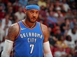 Carmelo Anthony will play with the Houston Rockets last season, signing for the veteran's minimum after clearing waivers and leaving the Atlanta Hawks. (Image: NBAE/Getty)