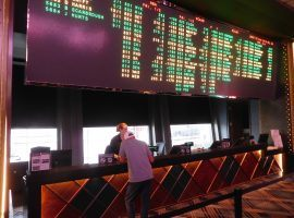 The Cosmopolitan sportsbook is one of seven in Las Vegas operated by CG Technology, who was recently fined $250,000 by the Nevada Gaming Control Board for various violations. (Image: John Reger)