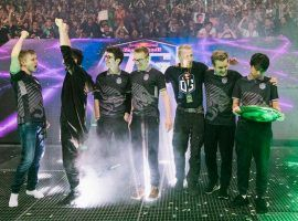 OG Esports came from behind to beat PSG.LGD 3-2 in the grand final of The International 2018 and win the $11.2 million first prize. (Image: Marca.com)