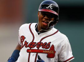 Braves rookie outfielder Ronald Acuna Jr. has homered in five straight games, making him the youngest player in MLB history to accomplish that feat. (Image: Getty)