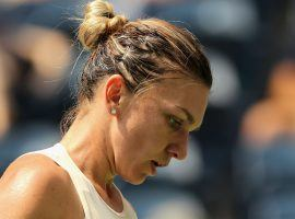 World No. 1 Simona Halep lost her first round match to Kaia Kanepi, the second straight year Halep has lost in the opening round at the US Open. (Image: Getty)