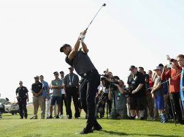 Steph Curry watches one of his shots during the opening round of the 2018 Ellie May Classic on the Web.com Tour. (Image: Golf.com)