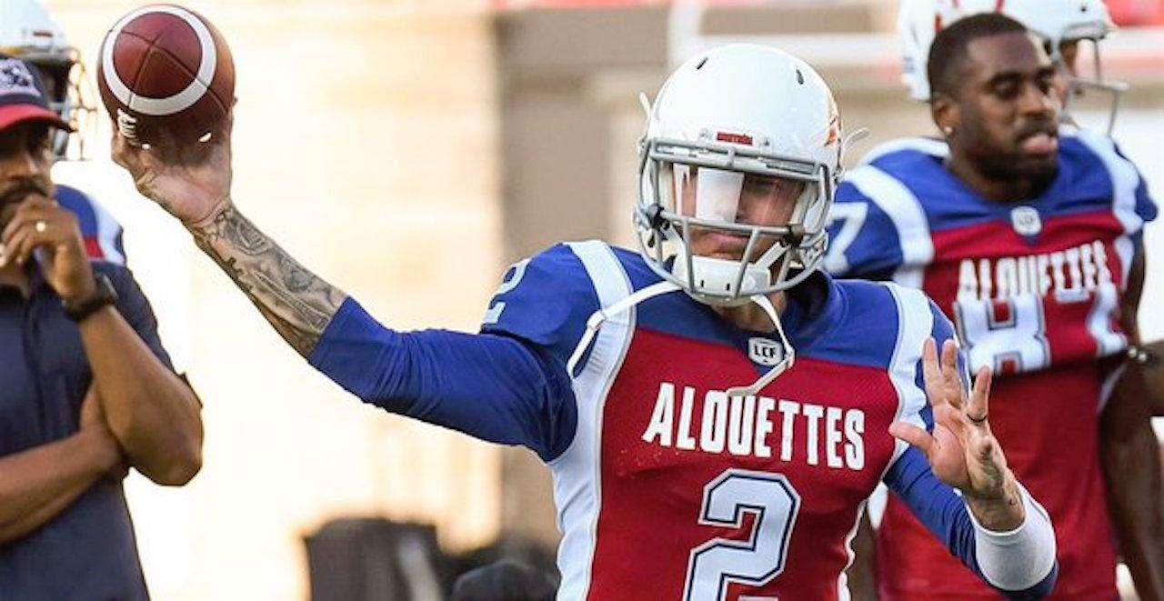 Johnny Manziel will start his first professional football game since 2015 in  the CFL on Friday. (Image  Getty) ac3406d91