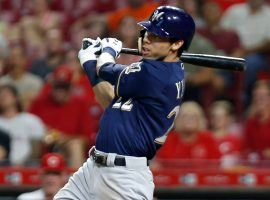 The red-hot Christian Yelich has helped propel the Milwaukee Brewers towards an MLB playoff position. (Image: David Kohl/USA Today Sports)