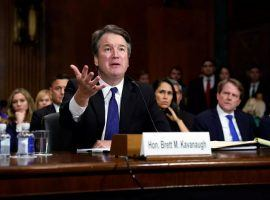 Judge Brett Kavanaugh delivered a fiery denial of the allegations against him during testimony in front of the Senate Judiciary Committee on Thursday. (Image: Andrew Harnik/AFP/Getty)
