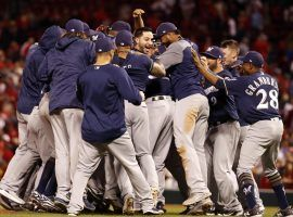 The Milwaukee Brewers clinched their first playoff berth since 2011 by beating the St. Louis Cardinals 2-1 on Wednesday night. (Image: AP/Jeff Roberson)