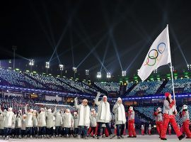 ceremony of the 2018 Winter Olympics in PyeongChang, South Korea. (Image: Matthias Hangst/Getty)