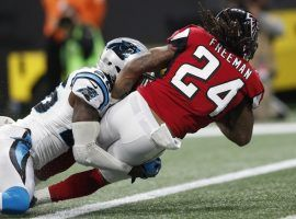 The Falcons take on the Panthers this weekend as 6-point favorites at home. (Photo: John Bazemore/AP)