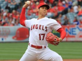 Shohei Ohtani has reached another rare milestone, and appears his elbow strain is healed. (Image: LA Times)