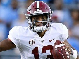 Tua Tagovailoa has eyes on leading Alabama to the College Football Playoffs, and bookmakers have their eyes on him. (Image: Sports Illustrated)