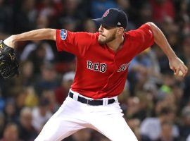 Chris Sale will take the mound for the Boston Red Sox against the Houston Astros in Game 1 of the 2018 ALCS. (Image: Charles Wenzelberg/New York Post)
