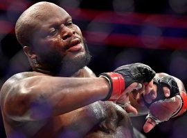 Derrick Lewis scored a stunning last-minute knockout to defeat Alexander Volkov at UFC 229. He will now face Daniel Cormier for the heavyweight title at UFC 230. (Image: Stephen R. Sylvanie/USA Today)