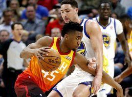 Donovan Mitchell is a rising star for the Utah Jazz (Image: Rick Bowmer/AP)