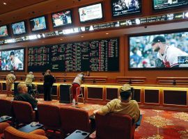 Bettors watch MLB games at the South Point Hotel and Casino in Las Vegas in May 2018. (Image: AP/John Locher)