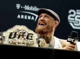 Conor McGregor will look to reclaim the lightweight title when he takes on undefeated champion Khabib Nurmagomedov at UFC 229. (Image: Isaac Brekken/Getty)
