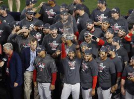 The Boston Red Sox celebrate after defeating the Los Angeles Dodgers on Sunday to win the 2018 World Series in five games. (Image: Ezra Shaw/Getty)