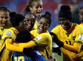 The Reggae Girlz from Jamaica advance to the World Cup for the first time (Image: Getty)