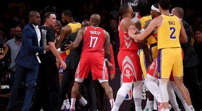 NBA Suspends Rajon Rondo, Chris Paul, Brandon Ingram for Rockets/Lakers Fight (More Video)
