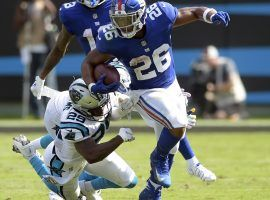 New York Giants rookie running back Saquon Barkley making huge impact (Image: Mike McCarn/AP)