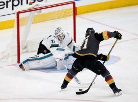 Vegas forward William Karlsson had a between his legs shot for a goal last year, and is ready for more dazzling plays this season. (Image: Las Vegas Review-Journal)