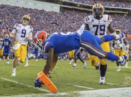 Florida sealed its 27-19 upset of LSU with a fourth-quarter interception for a touchdown. (Image: Gary Lloyd McCullough/The Florida Times-Union)