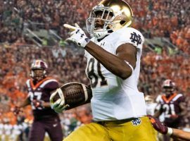 Notre Dame wide receiver Miles Boykin is a big reason the Fighting Irish are ranked No. 5 in the country. (Image: Gregory Fisher/Icon Sportswire)