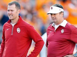 Oklahoma head coach Lincoln Riley, left, fired defensive coordinator Mike Stoops on Monday. (Image: Getty)