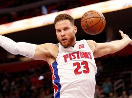 Blake Griffin of the Detroit Pistons is starring in an ad campaign for WinView, a prediction app that allows fans to win prizes based on guessing what will happen in live games. (Image: Raj Mehta/USA Today Sports)