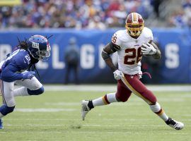 Washington Redskins running back Adrian Peterson has been a big reason the team is 5-2. (Image: AP)