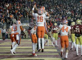 Clemson's football team has plenty to celebrate, including being No. 2 in the country and a 10-0 record. (Image: AP)