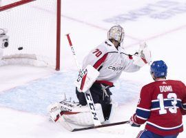 Montreal's Max Domi scores the game-winning goal against Washington. Joel Armia scored two seconds later for an NHL record. (Image: AP)