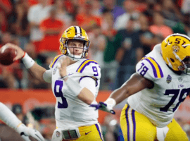Quarterback Joe Burrow will need protection from his offensive line if LSU is going to have a chance at upsetting Alabama on Saturday. (Image: Getty)