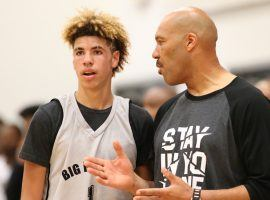 5LaMelo Ball, left, and his father, LaVar, discussed his future, and decided he should return to high school. (Image: USA Today Sports)