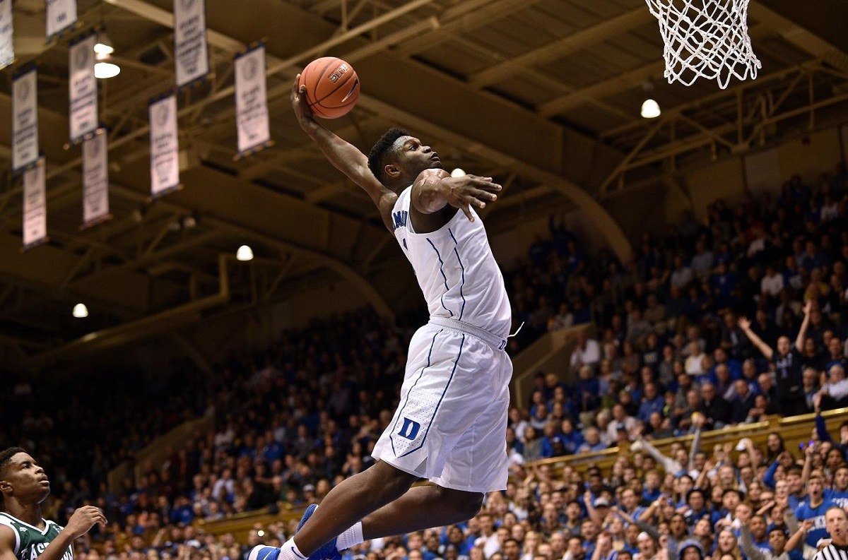 Duke's Zion Williamson Dunk Clinic (VIDEOS)