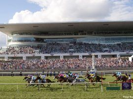 Arlington Park is one of three surviving racetracks in Illinois that could benefit from slot machines powered by historical horse racing algorithms. (Image: Four Footed Fotos/Paulick Report)
