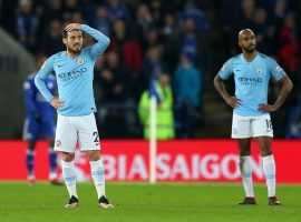 Manchester City fell to third place in the EPL standings following a 2-1 loss at Leicester City on Boxing Day. (Image: Getty)