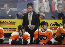 The Philadelphia Flyers have fired head coach Dave Hakstol after the team started the year with the worst record in the Eastern Conference. (Image: Bruce Bennett/Getty)