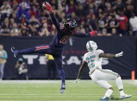 The play was negated due to a penalty, but DeAndre Hopkins' one-handed catch against the Dolphins in Week 8 was one of the best plays of the 2018 NFL season. (Photo: Michael Wyke/Associated Press)