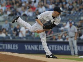 JA Happ pitching in the Bronx last summer for the Yankees. (Image: Julie Jacobson/AP)