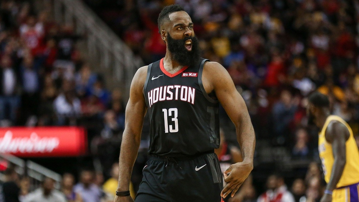 James Harden pops off 50-point triple-double as Rockets club Lakers