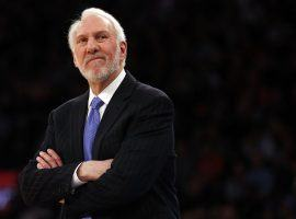 Gregg Popovich spent his entire NBA career coaching the San Antonio Spurs. (Image: Adam Hunger/USA Today)