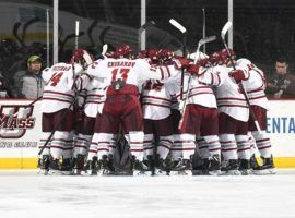 UMass is ranked No. 1 in the country in college hockey for the first time in school history. (Image: UMass Athletics)